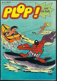 Plop! ...und Die Trolls Nr.9 von 1969 - Z1-2 MOEWIG FUNNY COMICHEFT-RARITÄT