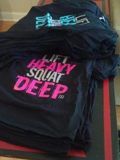 Lift Heavy Squat Deep T-shirts for men and women!!!! $19.99 www.TrainAngry.com