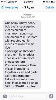 Sausage n rice