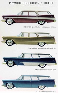 1957 Plymouth Station Wagons My family had a two-door Custom Suburban in Royal Red Station Wagon, Vintage Advertisements, Vintage Ads, Vintage Iron, Automobile, Plymouth Cars, Car Brochure, Ford Torino, Car Advertising