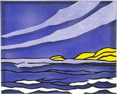 Roy Lichtenstein (USA 1923-1997) Sea Shore (1964) oil and magna on plexiglas 61 x 76.2 cm