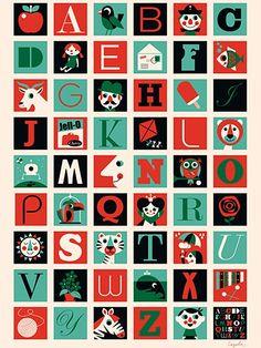A-Z Poster. By Ingela.