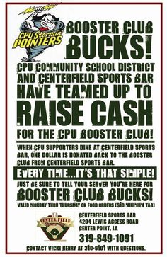 Booster Club Fundraiser Buffalo Wild Wings?