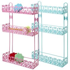 Kitchen 3 Tier Rack in Assorted Colours in Pink and Turquoise - Rice A/S