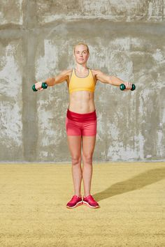 Where You Hurt & How To Fix It #refinery29  http://www.refinery29.com/reduce-pain-exercises#slide20  Now, reverse the direction of the circles and lower your arms back to the starting position. Repeat 2-3 more times. Do this exercise 3 times per week.
