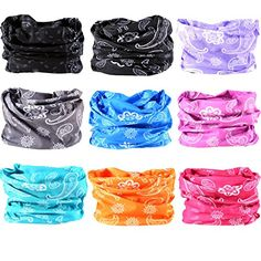 Neck Gaiter Headwear Headband Magic Scarf Seamless Bandana for Runing, Fishing, Hiking, Motorcycle 12 in 1 Multi Function for Women and Men