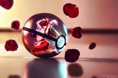 Erza in a pokeball!