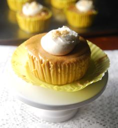 A vegan recipe for delicious, light Pumpkin Cheesecake Cupcakes. All of your Halloween visitors will be thanking you for the treat.