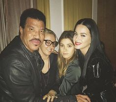 Pic of @katyperry with her friends and @LionelRichie last night in LA