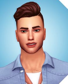 Braxton Hair A less poofy version of that hair that came with Cats & Dogs BGC 18 EA Colors Hat Compatible Recolors Allowed(Don't include the mesh) Custom Thumbnail Sims Four, Sims 4 Mm Cc, Sims 4 Cas, My Sims, Sims 4 Hair Male, Male Hair, Sims 4 Stories, Maxis, Pelo Sims