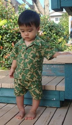 489867cab140 Baby Infant Boy Hawaiian Aloha short sleeve by KeikiKoversofKauai Aloha  Shirt