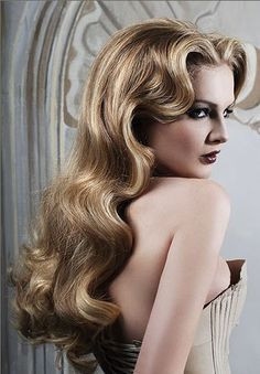 Glamour waves perfect for weddings!