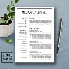 visual resume templates free download