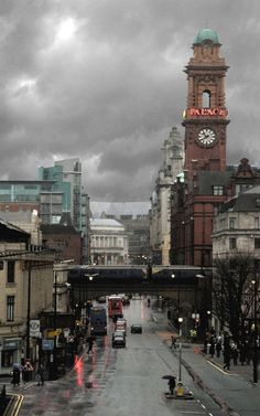Rain in Manchester at the Arndale Centre, England