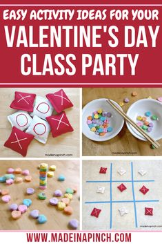 3 Fun and Easy Valentine's Day Activities to Do This Year! - Made In A Pinch - Easy activity ideas for a Valentine classroom party! 3 fun Valentine's Day activities for kids! Easy Valentine Crafts, Valentines Day Activities, Valentines Day Party, Valentines Day Decorations, Valentines For Kids, Activities For Kids, Crafts For Kids, Party Activities, Valentine Ideas