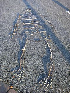 Making skeletons (using sticks) — Creative STAR Learning   I'm a teacher, get me OUTSIDE here!