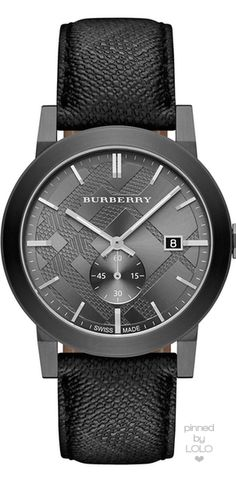 Burberry Gunmetal Beat Check Watch | LOLO❤︎