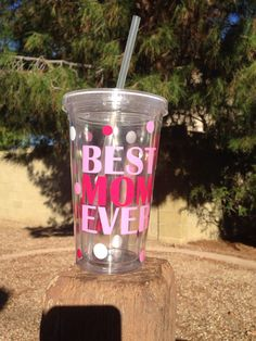 Best Mom Ever Tumbler, Travel Cup, Pink, Blue Mother's Day by TheLittleSparkleShop on Etsy https://www.etsy.com/listing/244103877/best-mom-ever-tumbler-travel-cup-pink