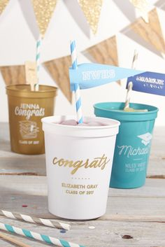 Congrats Grad! Customize your party with FYP Custom Stadium Cups!