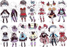 -CLOSED-Gothic OUTFIT ADOPTS by Guppie-Adopts on deviantART
