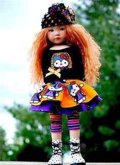 Hello-Dracula-Kitty-Halloween-Outfit-for-13-Effner-Little-Darling-by-Sharon. Ends 9/14/14. Sold for $51.03