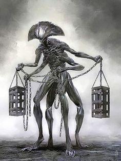 Os 12 signos do zodíaco recriados como monstros assustadores (vem ver como ficou o seu) Dark Fantasy Art, Fantasy Kunst, Dark Art, Monster Art, Monster Design, Arte Horror, Horror Art, Horror Drawing, Arte Obscura