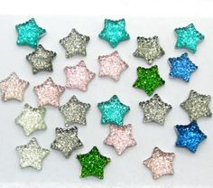 Free-Shipping-300pcs-Colorful-Resin-Bling-Star-Cabochons-Flatback-11x11mm