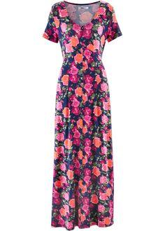 Beställ Maxiklänning i trikå, kort ärm blå, blommig nu från 349.- kr i online-butiken på bonprix.se Denna maxiklänning i trikå, antingen blommigt mönstrad ...
