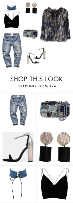 """""""Untitled #38"""" by nc-young ❤ liked on Polyvore featuring Chanel, River Island and Diane Von Furstenberg"""
