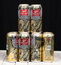 """Long Live The Pursuit"" cans from Miller High Life and Harley Davidson."