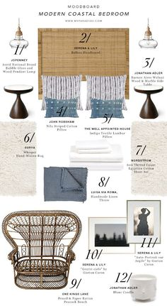 MOODBOARD: Modern Coastal Bedroom | My Paradissi | Bloglovin'                                                                                                                                                                                 More