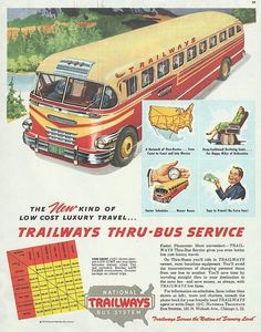 Vintage Ad: National Trailways Bus System, 1948