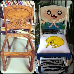 Best DIY Furniture makeover!! - Adventure Time Chair -