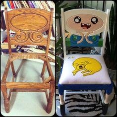 Old chair turned Finn & Jake chair
