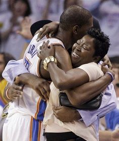 Kevin Durant and Mother Celebrate Finals Berth