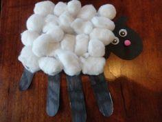 kids handprint sheep craft