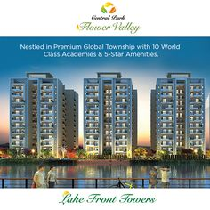 Lake Front Towers- Luxurious Living with 3 / 4 BHK apartments in Central Park Flower Valley. #CentralParkIN #CentralParkFlowerValley