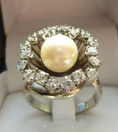 Bague grosse aigue marine