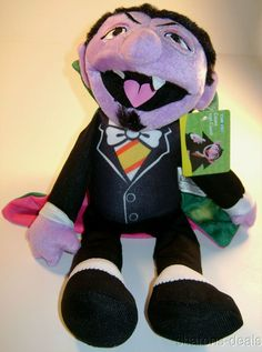 "Count von Dracula Sesame Street Nanco 14"" Plush Doll Toy Vampire Monster NEW"