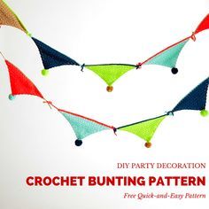 DIY Party Decorations: Crochet Bunting Pattern