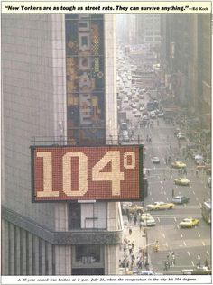 July 21st, 1977, the day after I was born. :) #NewYorkCity