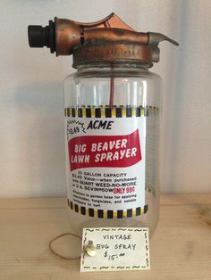 Vintage ACME Bug Spray by TheNeoNewYorker on Etsy