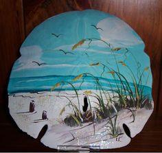 Seashell Painting, Seashell Art, Seashell Crafts, Painting On Shells, Seashell Ornaments, Painted Sand Dollars, Sand Dollar Art, Painted Shells, Rock Painting Designs