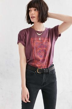 Truly Madly Deeply Floral Jewel Tee - Urban Outfitters