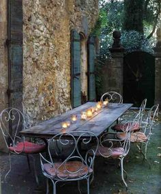 Bohemian Nation love these wrought iron chairs for outside