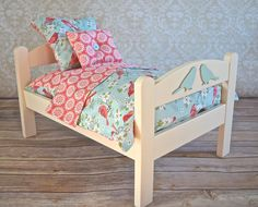 Furniture and Accessories For Dolls and Children Ikea Doll Bed, Doll Beds, Custom American Girl Dolls, American Girl Doll Bed, Baby Doll Bed, Cute Baby Dolls, Doll Quilt, Doll Bedding, Doll House Plans