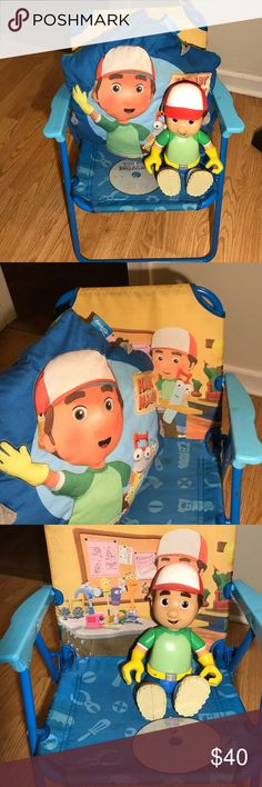 ⚙️Handy Mandy Lot ⚙️Handy Manny Lot kick back and watch a DVD (slightly scratched) with chair & pillow along with a talking Mandy Other