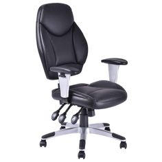 Giantex Modern PU Leather High Back Gaming Chair Executive Computer Desk Task Office Chair Black Swivel Office Furniture Used Office Chairs, Black Office Chair, Executive Office Chairs, Top Furniture Stores, Office Furniture, High Back Chairs, Commercial Furniture, Gaming Chair, Swivel Chair