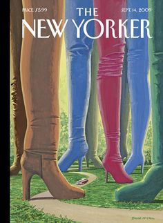 "The New Yorker - Monday, September 14, 2009 - Issue # 4324 - Vol. 85 - N° 28 - « The Style Issue » - Cover ""Step Into Style"" by Bruce McCall"