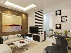 Living Room for Modern Family : Contemporary Interior Design In South Korea Korean Living Room Wooden Standing Bookcase Black Speaker White Vitrage White Wall White Standing Lamp Orange And White Floral Pillow
